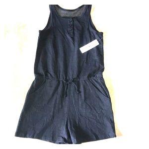 Fab Kids Black romper size 14 for girls NWT